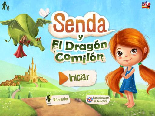 Cuento interactivo Senda y el dragón comilón