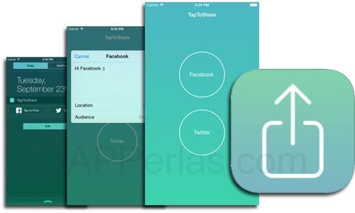 TapToShare comparir en twitter y facebook