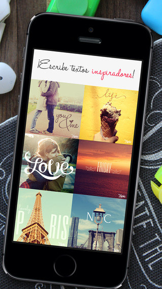 Editor de fotografía TYPIC para iPhone