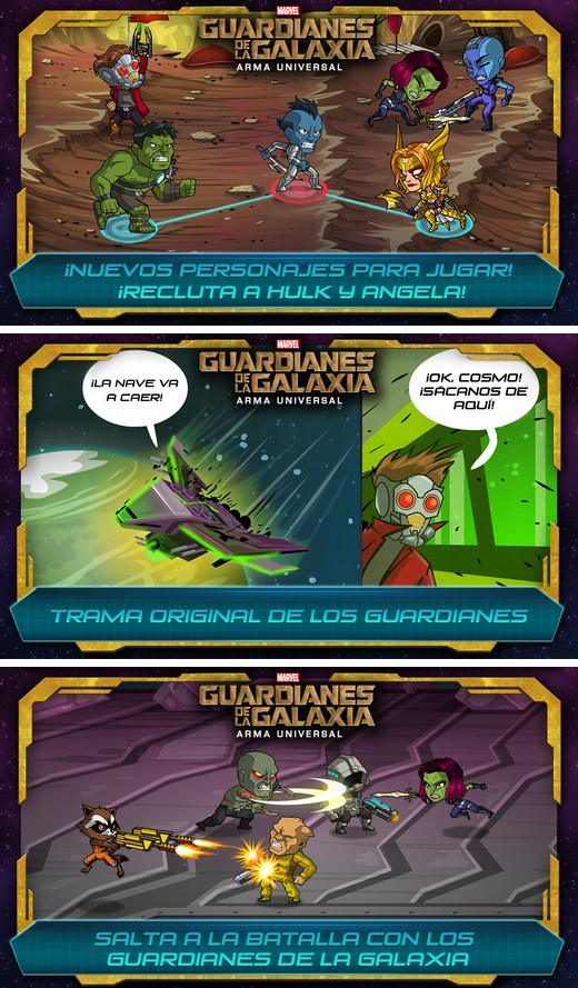 Guardianes de la galaxia para iPhone y iPad