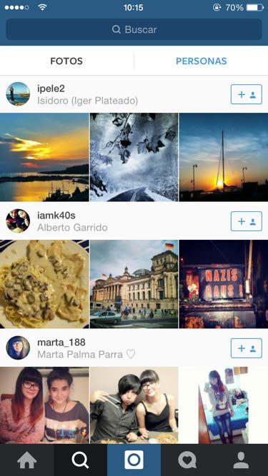 Instagram 6.2 novedad en EXPLORAR