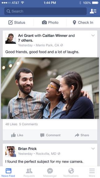 Todas las novedades en Facebook 20.0
