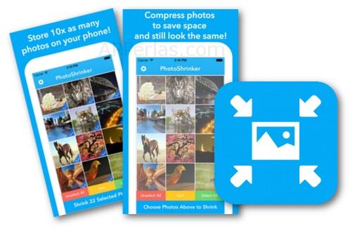 Comprimir fotos con la app para iOS PhotoShrinker