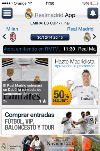 App para ver Real Madrid TV GRATIS