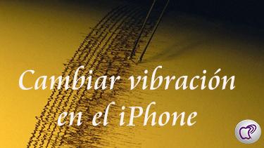 vibración en el iPhone