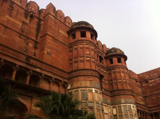 The Red Fort from outside