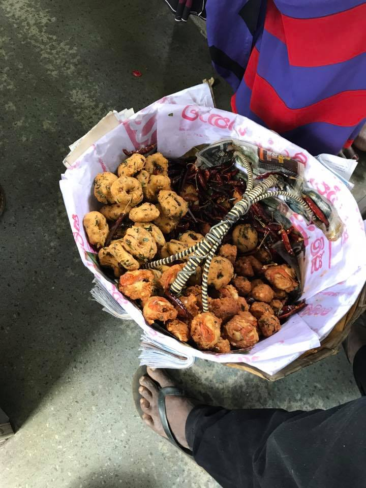 Amazing basket of yummy snacks which were piping hot and delicious