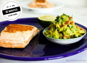 30 Minute Low-Carb Salmon With Avocado Jalapeno Salsa