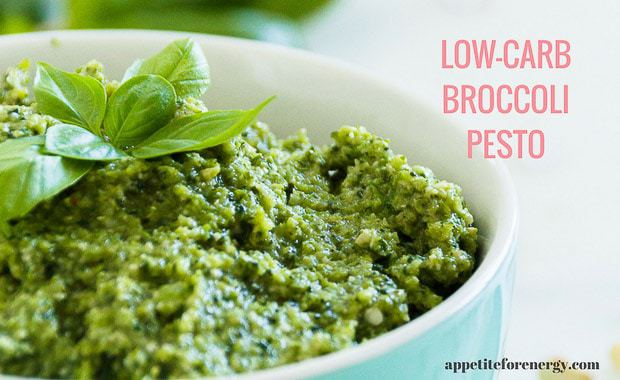 Low-Carb Broccoli Pesto Sauce