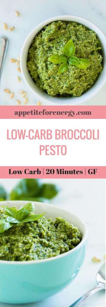 This dialed down low-carb pesto is full of broccoli goodness and is the perfect accompaniment for any protein. Make it in 20 minutes, with only 5.5g of net carbs. FOLLOW us for more 30 Minute Recipes. PIN & CLICK through to get the recipe! how to make pesto|Low-carb diet|ketogenic diet |keto diet |keto pesto| low carb diet pesto|gluten free pesto recipe|Low carb sauce recipe|ketogenic sauce recipe|low carb sauce|#pesto #lowcarb#ketodiet