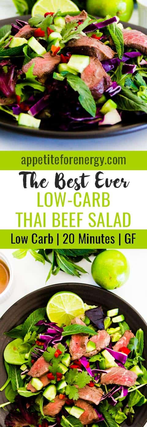 This is the best ever recipe for Low-Carb Thai Beef Salad that I have tried. It's low-carb, it's fresh and light and will be ready in 20 minutes. FOLLOW us for more 30 Minute Recipes. PIN & CLICK through to get the recipe! |Low-carb diet | ketogenic diet | keto |keto beef recipes| low carb diet thai beef salad |gluten free recipes|Low carb salad recipe| #keto #lowcarbrecipes #ketorecipes #lowcarbdiet #thaibeefsalad #easylowcarbrecipes #holidayrecipes