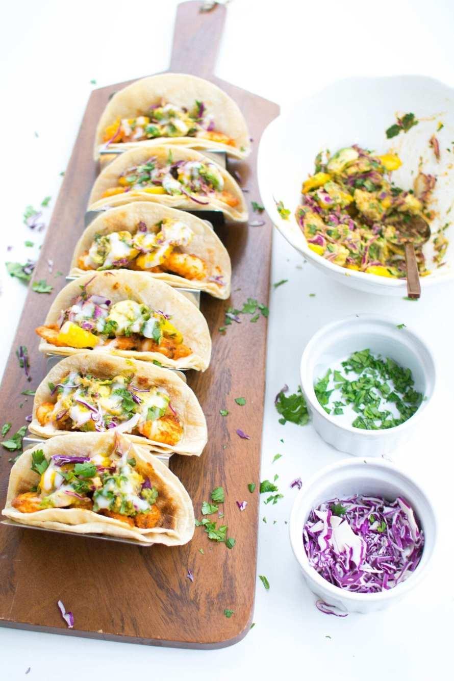 Cajun Shrimp Tacos with Mango Avocado Slaw | Appetites Anonymous