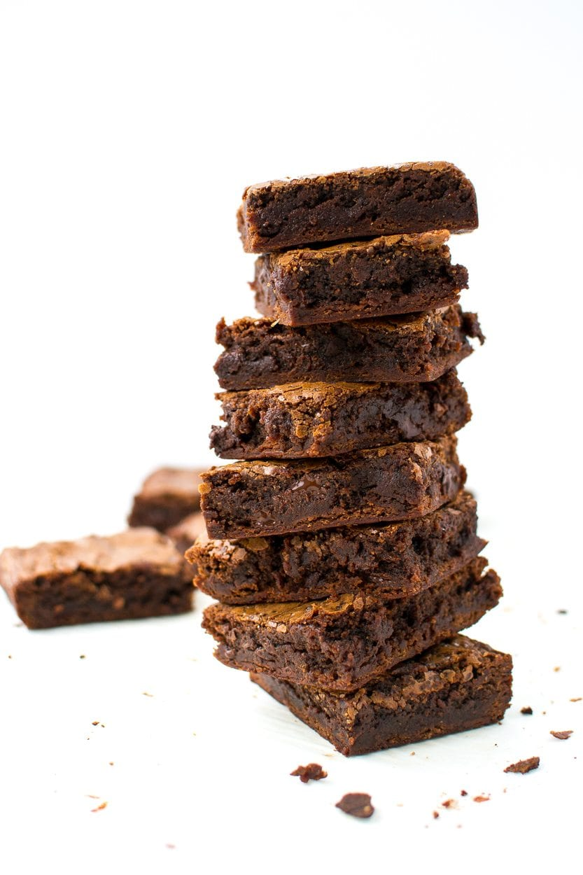 chewy sea salt and caramel olive oil brownies | Appetites Anonymous