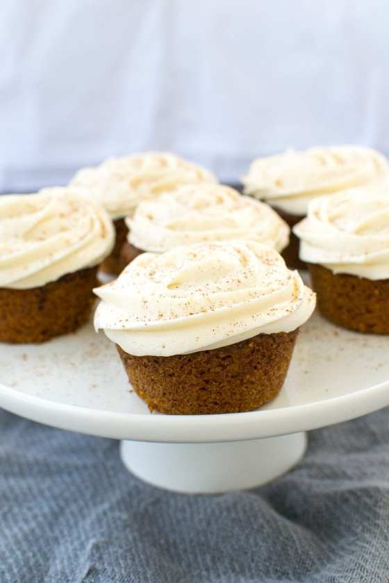carrot cake cupcakes with buttercream frosting | Appetites Anonymous