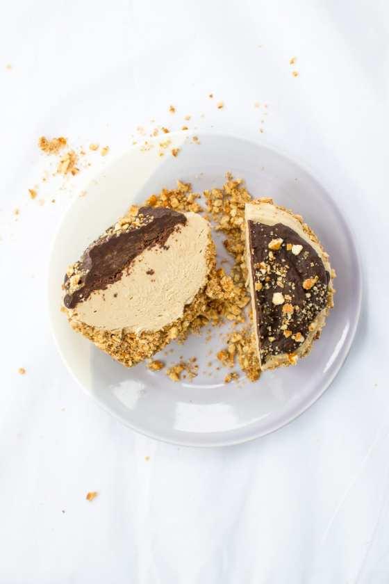 mini vegan peanut butter pies with pretzel crust and dark chocolate ganache   Appetites Anonymous