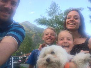 Familien på sommerferie