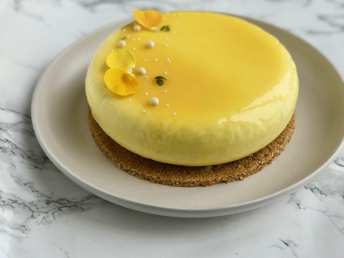 Påskelagkage: cheesecake med passionsfrugt