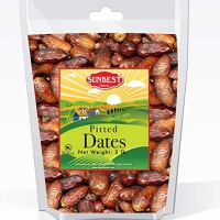 Sunbest Sun-Dried Pitted Dates in Resealable Bag,Premium Quality, Gluten Free - Non GMO - Vegan - Kosher (2 Lb)
