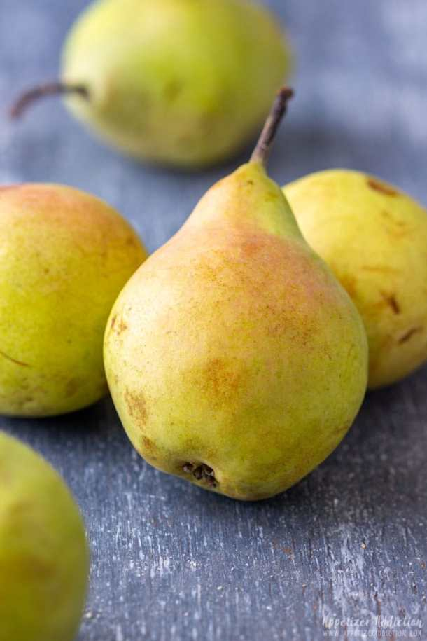 Fresh Pears for Crostini Appetizers