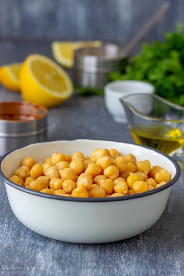 Chickpeas for the Pan Fried Chickpeas Recipe