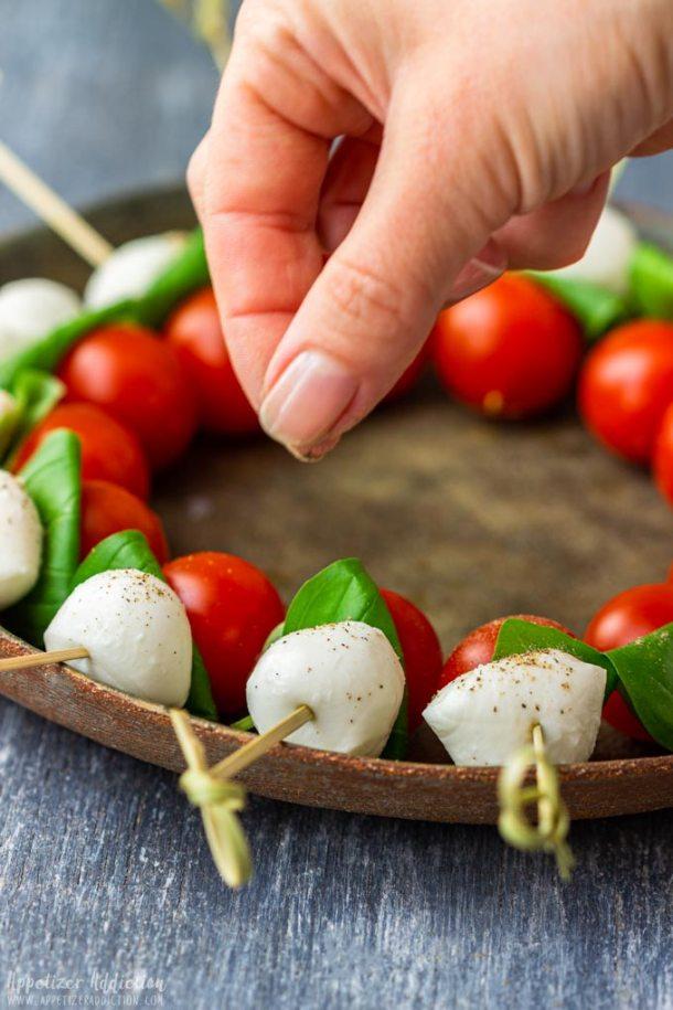 How to make Caprese Salad Bites Step 2