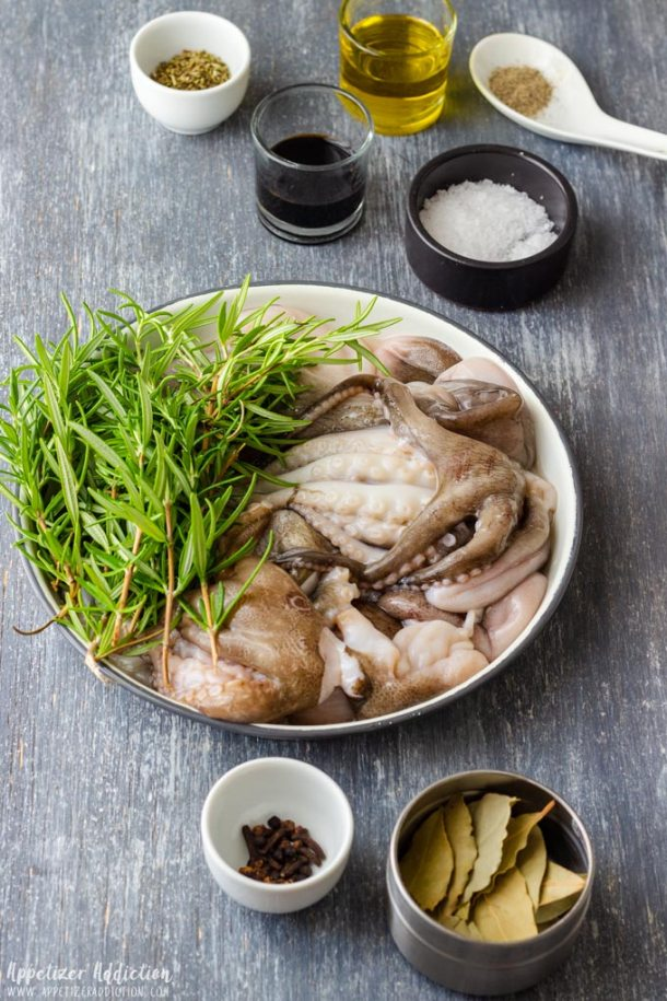 Marinated Baby Octopus Ingredients
