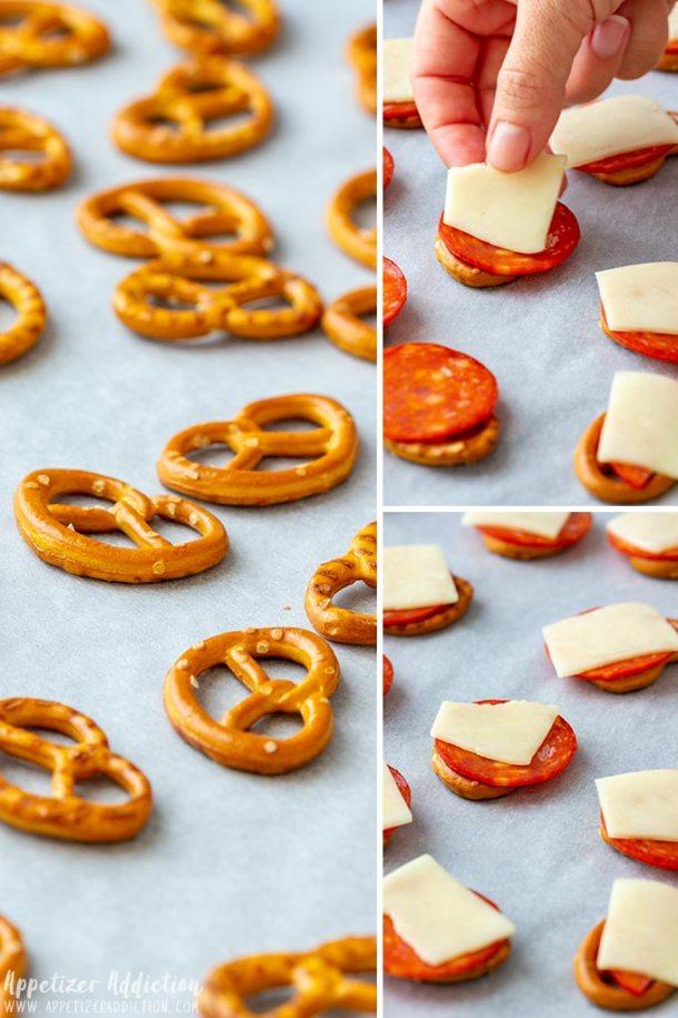 How to make Pretzel Pizza Bites Collage