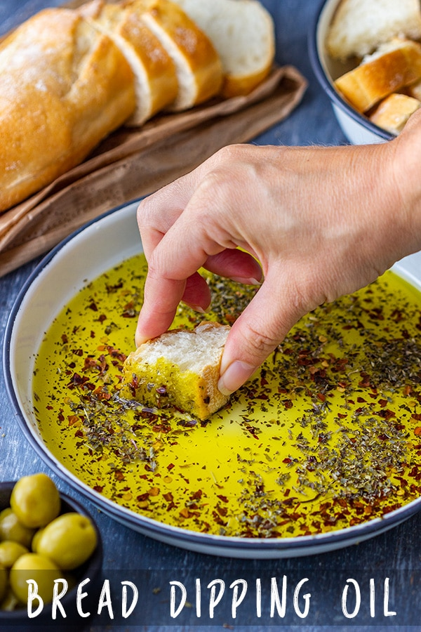 An easy recipe for bread dipping oil. Simple, quick and tasty addition to dinner, cheese board or charcuterie platter. If you like quick appetizers, put this one on your menu! #oliveoil #appetizers #bread