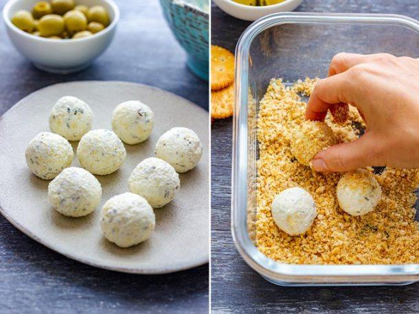 How to make Olive Stuffed Cheese Ball Bites Step 3