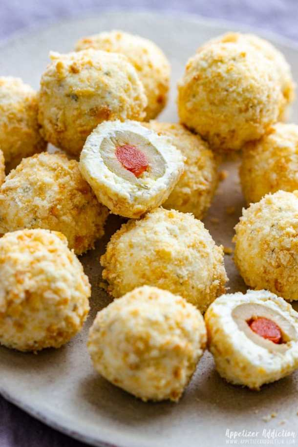 Party Appetizers Cheese Ball Bites