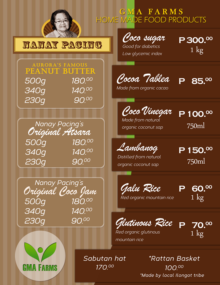 Nanay Pacing's Pricelist