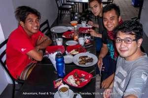 (L-R) Oka Espenilla, John Kuizon, Markley Villarin, Carlo Lorenzo Enjoying our complimentary breakfast