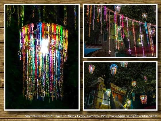 padre pio chapel rosary lanterns 2