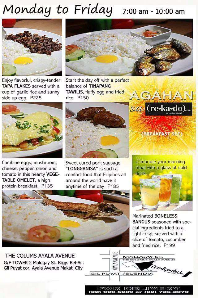 Rekado Atbp Menu Breakfast