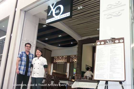 Carlo Lorenzo with Chef Tanya Dizon of XO46 Heritage Bistro
