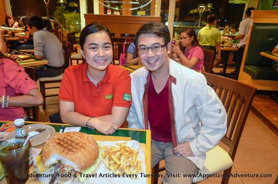 With Casa Verde's Therese Galang