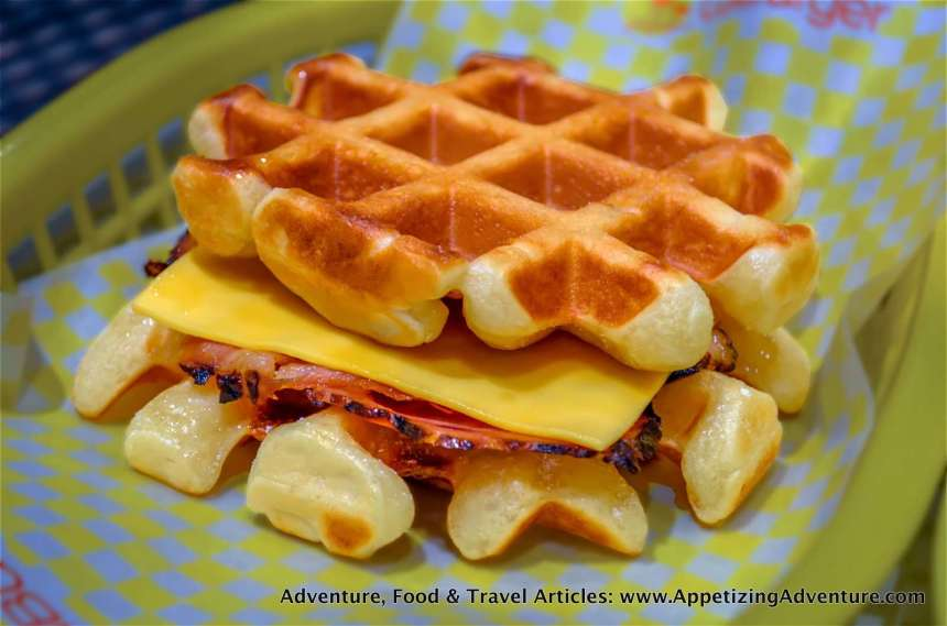 Ham and Cheese Waffle Php145