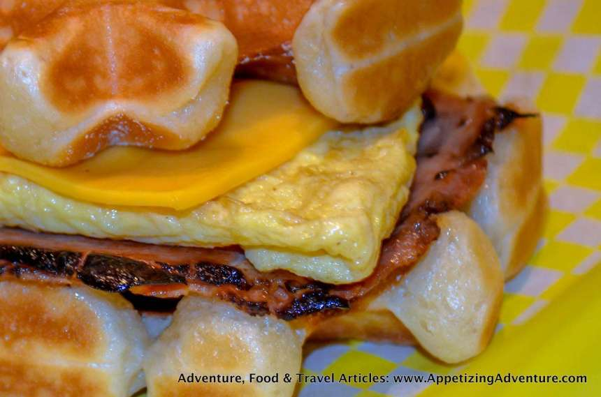 Ham, Egg, and Cheese Waffle Php170