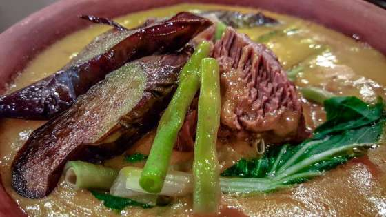 Kare-Kare Php310 (regular) / Php490 (family) Tender Oxtail and tripe stewed in creamy peanut sauce