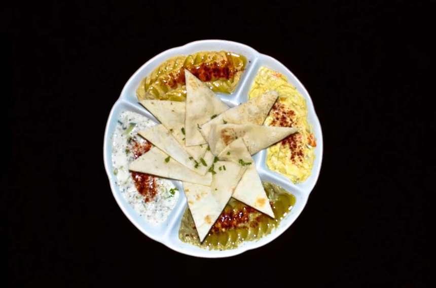 Peshgahza:Family Php425 /Junior Php270 Extra pita bread Php30 Salad OliveyehSolo Php135 Hummus Solo Php135 Baba Ganoush Solo Php130 Must O'KhiarSolo Php130