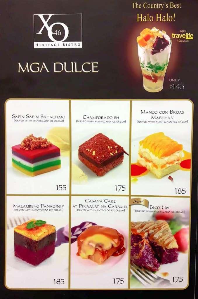 XO46 Desserts