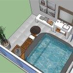 Plan pour une salle de bain jacuzzi à Brest