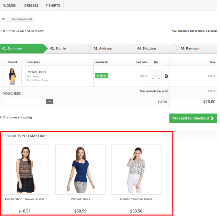 products you may like search results