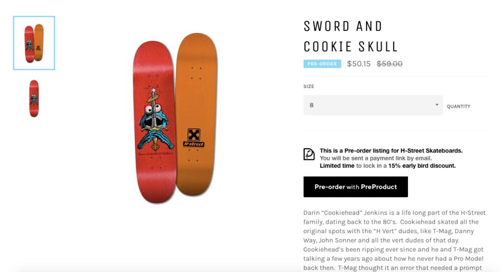 pre order sales page discount