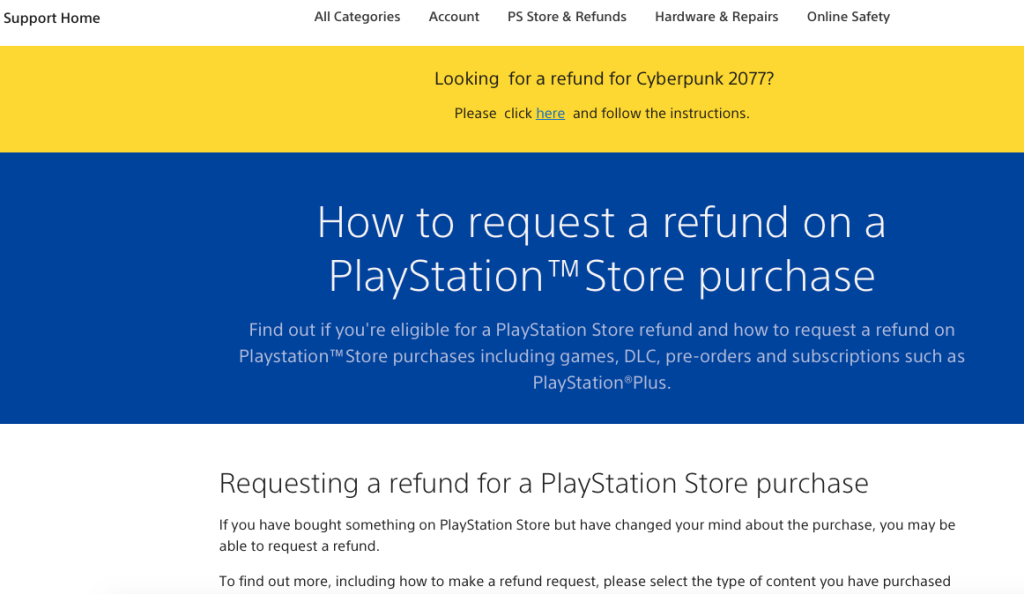 refund policy on preorder sales page