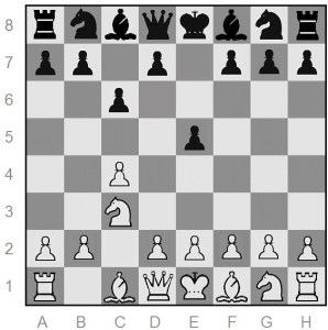 Whitcomb is White; after two moves