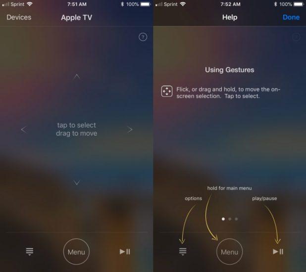 استخدام هاتف iPhone كجهاز تحكم عن بُعد لجهاز Apple TV