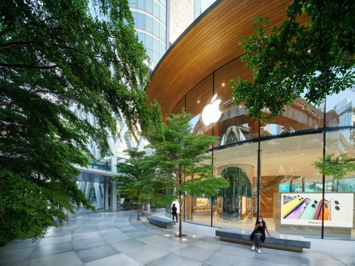 Gli alberi Termalia nell'area esterna di Apple Central World.