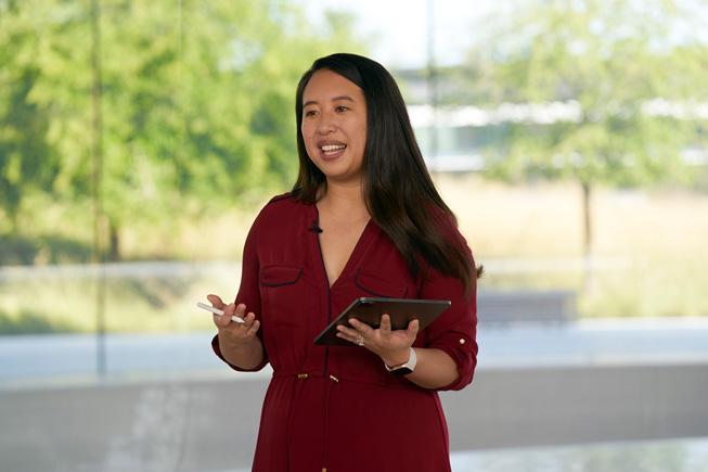Jenny Chen mostra le funzioni di scrittura su iPad Pro alla WWDC20.