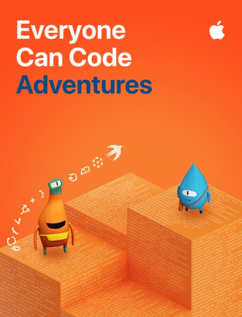 """Immagine della guida per studenti """"Everyone Can Code Adventures""""."""